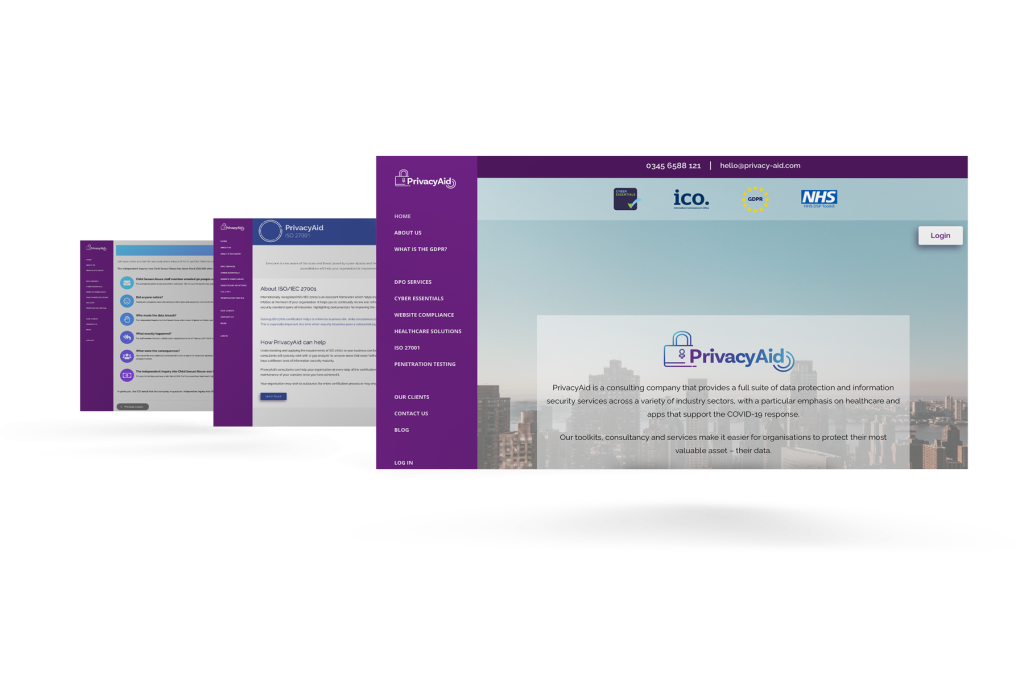 PrivacyAid-Website-design