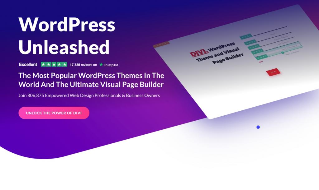 Image to illustrate WordPress page builder Divi