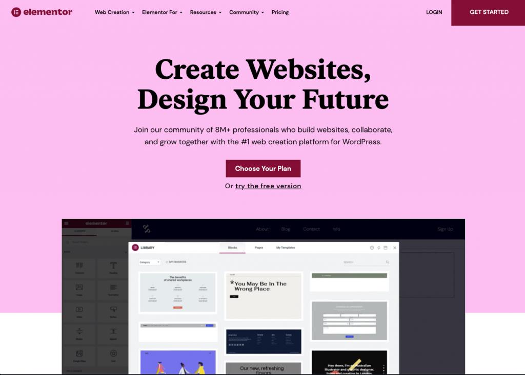 Image to illustrate WordPress page builder Elementor